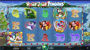 hnavidad olly jolly penguins microgaming slot